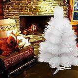 60cm Künstlicher Weihnachtsbaum PVC Weiße Kiefer mit Ständer Feiertagsdekoration Weiß...