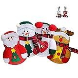 SRTYZ Weihnachten Besteckhalter, 4pcs Sankt-Klage Weihnachtsdeko Weihnachten Dekoration Besteck-Sets...