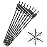 SHARROW 12 x Armbrustbolzen 20 Zoll Carbonpfeile Armbrustpfeile 22 Zoll Bolzen für Armbrust mit...