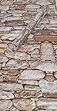 Visario Tapeten Folie 3000-S selbstklebend 10m x 45cm 5 Motive Steinoptik Steine Dekorfolie...