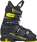 Fischer Unisex Jugend Junior Skischuhe RC4 60 JR Thermoshape, schwarz/gelb, 23.5, 235