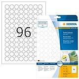 HERMA 4386 Universal Etiketten DIN A4 ablsbar ( 20 mm, 25 Blatt, Papier, matt, rund) selbstklebend,...