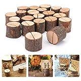 Kartenhalter Holz Menükartenhalter Tischkartenhalter Holz, 20 Stück Platzkartenhalter Memohalter...