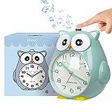 Wecker Kinder ohne Ticken Kinderuhr mit nachtlicht, Schlafzimmer Snooze Funktion Uhr mit Dim Yellow...