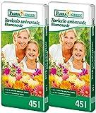 Floragard 90 L (2x45L) FloraGreen Blumenerde Universalerde Pflanzerde Topferde Erde