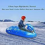 biteatey Aufblasbares Skiboot Für Kinder Aufblasbare Ski Aufblasbarer Schneerohr Mit Einem Griff...