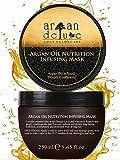 Argan Deluxe Haarmaske in Friseur-Qualität 250 ml - Haarkur mit Arganöl zur intensiven Pflege -...