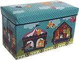 Bieco Aufbewahrungsbox mit Deckel Kinder Zirkus, faltbar, Sitzhocker mit Sitzgelegenheit, und...
