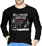 forihifngjnjyhk Mens Hollywood Undead Tag der Toten Langarmhemden