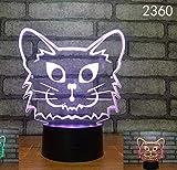 Hauptdekoration Tischlampe Erstaunliche Kinder Junge Kinder Geschenk Illusion 3D LED Nachtlicht...