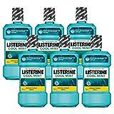Listerine Cool Mint Mundspülung, Mundwasser mit intensivem Minzgeschmack, antibakteriell für...