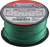 Connex Maurerschnur grün - 100 m Länge - Ø 1,0 mm - Polypropylen geflochten - Knotenfest -...