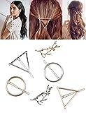 Haar Clips minimalistisch Dainty Haarspangen für Frauen Hohl Geometrische Metall Hair Pins Mädchen...