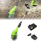 LIMEID Mini Gartenfräse Elektro, Bodenbearbeitungstiefe 25cm, Bodenbearbeitungsbreite 10cm,...