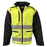 H und K Warnschutz-Jacke Weste Arbeitsjacke gefüttert Gelb/Schwarz XXL-3XL, Größe:3XL