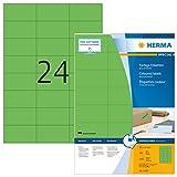 HERMA 4409 Farbige Etiketten DIN A4 (70 x 37 mm, 100 Blatt, Papier, matt) selbstklebend, bedruckbar,...