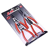 Sicherungsringzangen-Set, 17,8 cm, tragbarer innerer und externer Ringentferner, gebogene Spitze,...