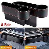 HELLOGIRL 2 Stück Auto Aufbewahrungsbox Veranstalter Sitzlücke Kunststoffkoffer Tasche Seite für...