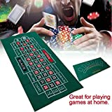 strety Roulette Filz Poker Matte Pokerauflage Doppelseitige Muster-Spieltischdecke, Vliestischdecke,...