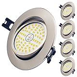 LED Einbaustrahler Ultra Flach, 5er Set 12W LED Deckenstrahler Warmweiß 3000K 900LM 230V LED Spot...