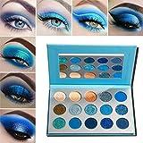 Blau Lidschatten Palette Matt Glitzer Hochpigmentierte,Afflano Pro Eyeshadow Palette Glitter...