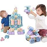 Magnetische Blöcke Magnetische Gebäude Fliesen Set Kreativität Spielzeug for Vorschulkleinkinder,...
