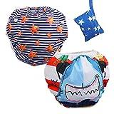 Lictin Schwimmwindel Baby 2-teilig Baby Schwimmhose Baby Badewindelhose Schwimmwindel junge für...