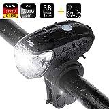 ELOSIS LED Fahrradlicht Fahrradbeleuchtung Stvzo Zertifizierung USB Fahrradlampe Fahrradlichter...