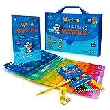 Mimtom Malschablonen-Set für Kinder und Jungen | 51-teiliges Schablonenset mit über 240 Formen, um...