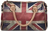 styleBREAKER Union Jack Handtasche im Grobritannien Vintage Design, Bowling Tasche, Henkeltasche,...