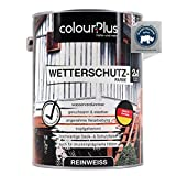 colourPlus® Wetterschutzfarbe 2,5L Reinweiß seidenglänzend - langzeitwetterbeständige...