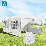 Hengda 3x6m Pavillon Partyzelt UV-Schutz Hochwertiges GartenPavillon Wasserdicht mit 6 Seitenteilen...