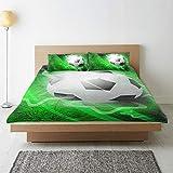 Ahomy Bettbezug-Set 3-teilig mit Reißverschluss, moderne Fußball-Bettwäsche, Bettbezug und...