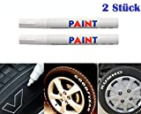 WEI / WEISS 2x Stck Reifen Stift Reifenmarker Auto, Motorrad, Fahrradreifen Reifenmarkierungsstift...