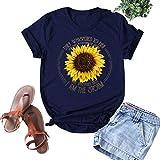 Allegorly Damen Lssige O-Neck Sunflower Printing Kurzarm Slim Tee T-Shirt Damen Kurzarm V-Ausschnitt...