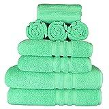 Handtücher Set (8-Teilig) mit 2 Badetücher / Duschtücher 70x140 cm, 2 Handtücher 50x100 cm und 4...