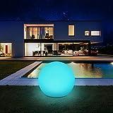 Solarlampen für außen, infray Solarleuchten für außen, Solar Gartenleuchten 30cm Solarkugel mit...