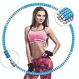 JXJL Hula Fitness Hoop Reifen Erwachsene,8 Segmente Abnehmbarer und Einfach zu Montierender für...
