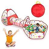 Cocoarm Spielzelttunnel Spielhauszelt 3 in 1 Pop-up Tragbare Kinder Kinderspielzelt Spielset...