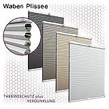 Gardinen21 Thermo Wabenplissee nach Maß in der Glasleiste mit Montage | Waben Plissee im Wunschmaß...