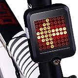 Premewish Fahrradblinker Vorne und Hinten mit 64 LED Fahrrad Licht Automatische Blinker kabellos...