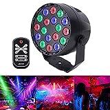 LED PAR Licht Disco Lichter 18LED Sound aktiviert DMX512 RGB 7 Beleuchtungsmodi Lichteffekt...