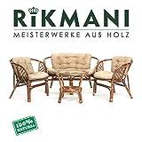 Rattan Gartenmöbel Set - Balkon Möbel - Lounge Möbel Terrasse - Ragnarök Gartenmöbel - Tisch...