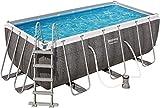 Bestway Power Steel Rechteckiger Pool, 4,04 x 2,01 x 1,00 cm, Harzoptik