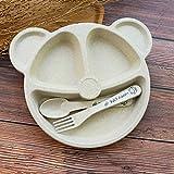DDPHC 3 Teile/Satz Unterteilt Kinder Platte Set Kreative Haushaltsgeschirr Baby Platte Frühstück...