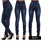 Unbekannt Dünne Taille Elegante Jeans Frauen Winter Four Button Straight Up Taille Design Hohe...