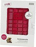 Lurch 83090 Schokoladentafel / Gussform mit Blumenmotiv aus 100% BPA-freiem Platin Silikon, ruby