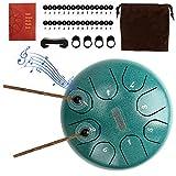 Brynnl Stahl Zunge Trommel, 6 Zoll Hand Pan Drum 8 Noten Hand Drum Percussion Steel Drum Instrument...
