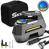 SKEY Elektrische Luftpumpe, Tragbare Auto Kompressor DC 12V 150PSI Luftkompressor mit LCD-Bildschirm...
