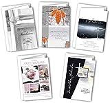 Kollektion Reuter 5er-Set Trauerkarten/Faltkarten/Doppelkarten/Klappkarten mit Bibelvers, 42-8010
